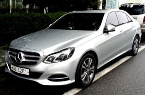 New Mercedes E-Class In The Rain by toyonda