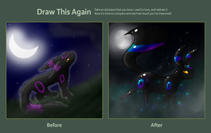 Before-After - Umbreon by Nachturia