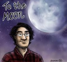 Markiplier To The Moon by sibbies