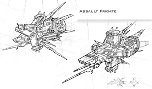 Assault Frigate by 4-X-S