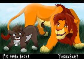 Wildcats: Sora and Simba by 2wolfan