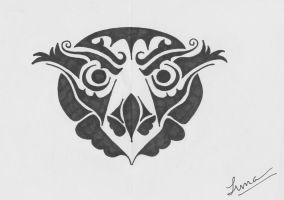 Tribal Owl Tattoo Request by graffitica