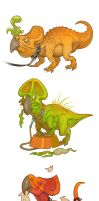 Ceratopsians by Garvals
