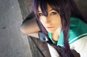 Look at me - Saeko Busujima by Xeylen