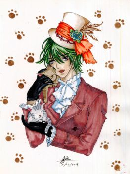 Mad Hatter - The Cat Lover by cheachan15