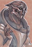 Chatty Turian by caramitten