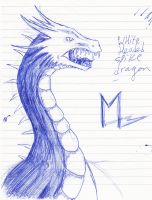 white headed dragon by Marl1nde