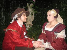 Men's and Women's Renaissance Costume Sitting by AzreGreis