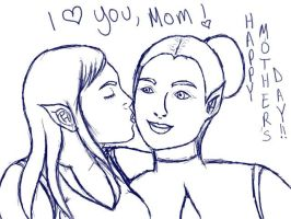 Mother's Day - Lineart by AJD2348
