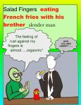 salad finger and slender man by dabbycats