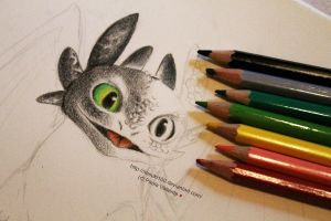 Toothless WIP by Nasuki100