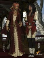 Amlaruil and Arilyn by intrepid1708