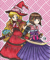 Etrian Odyssey - The Witch and the Princess by Imimi-Ai