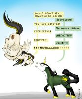 MLP: Loki vs GlaDOS by mcat711