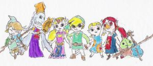 WW Link and crew by Lady-of-Link
