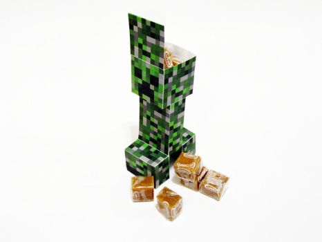 MineCraft Creeper Party Favor Box Template by Gaddia