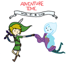 Adventure Time with Fi and Link by terrybeary10