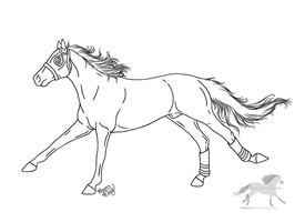 Racehorse Lineart by RejectAll-American