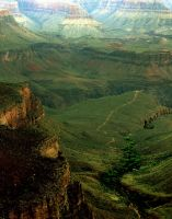 Grand Canyon in green by geometricphotos