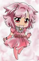 CHIBI GIRL LINEART coloured by tariah23