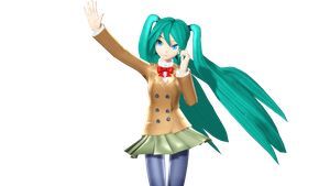 MMD DT Mousou Sketch Miku by willianbrasil