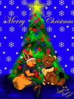 Biskit and Curvee Xmas gift by PinkScooby54