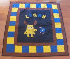 Moose and Zee Lap quilt by quiltoni