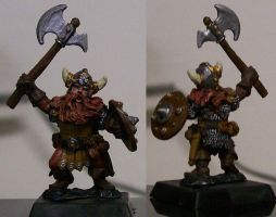 First Dwarf Miniature by mandy-the-mental