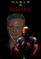 Cable and Deadpool by OlDirrtyDoogz