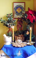 Early Winter altar by LoveLiveLilith