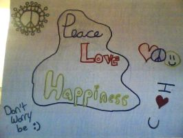 Peace Love Happiness by Twins429
