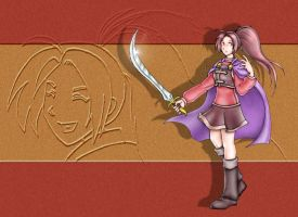 Jenna colored - Golden Sun by S0rce