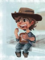 Carl Chillin' With Some Pudding by vincentsdeviantart