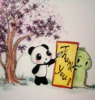 Dino and Panda Thank You 008 by MelodicInterval
