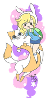 Adventure Time with Fionna and Cake by GingerBreadKitten