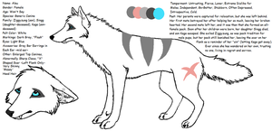 Aleu Ref Sheet by wolfforce58