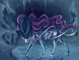 Legendary Suicune by KaceyMeg