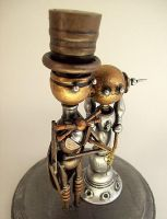 Steampunk Robot Wedding Cake 2 by buildersstudio