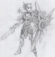 Iron Solari Leona -- rough sketch by InvinciChicken