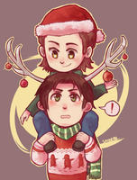 SPN - Christmas Moose by say0ran