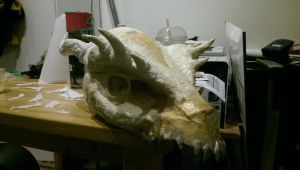 Lizard/dragon mask project 6 by The-Lass