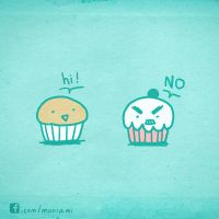 Muffin and Mr. Cupcake 1 by natalianinomiya