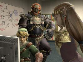 Zelda Characters at the Office by Janus3003