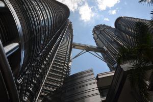 Imposing Petronas Towers KL by MayEbony