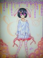 Rukia the bunny :3 by Moiyo-chaaan