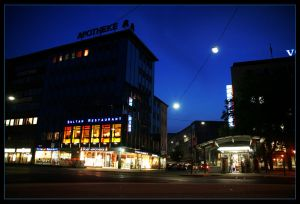 bielefeld at night by jahno-pictures