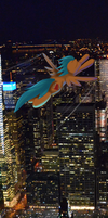 flying the skyline by Multiponi