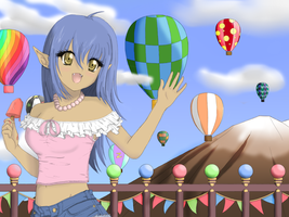 Ballon Race Contest Entry by ichigozoey