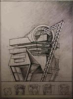 Architecture drawing. Fantasy by MsRiin