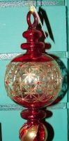 Red Gold Blown Glass Ornament by FantasyStock